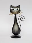 Katze Metall Deko Garten Katzen Tier Figur Skulptur Kater Statue Katzenfigur