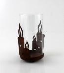 Windlicht Kerzenhalter Metall Glas Deko Teelichthalter Leuchter Kerzenständer
