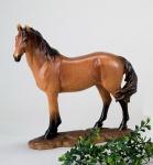 Pferd Reitpferd Fuchs Skulptur Deko Garten Tier Figur Artikel Statue abstrakt