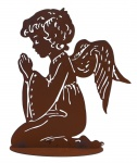 Engel Metall Edelrost betender Schutzengel Skulptur Weihnachts Deko Figur Statue