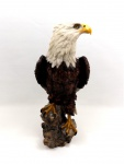 Weißkopf Adler Vogel Eagle Seeadler Deko Garten Tier Figur Raubvogel Stein Baum