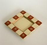 Dekoteller Weihnachtsteller Adventsteller Keramik Teller Deko Kerzen Schale