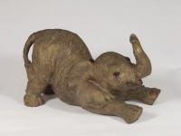 Elefant Elefanten Baby Tierfigur Skulptur Deko Garten Tier Figur Afrika Statue