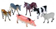 Farmtiere Deko Pferd Kuh Schaf Ziege Esel Schwein Bauernhof Farm Tiere 6 tlg.