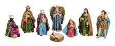 Krippenfiguren 8 tlg Maria Josef Jesus Engel König Weihnachts Krippe Deko Figur