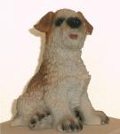 Hund Welpe Figur Hundefigur Tierfigur Deko Skulptur