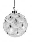 Deko Glas Kugel LED + Timer Weihnachts Hänger Baumbehang Christbaumschmuck