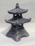 Pagode japanische Deko Laterne 2 stöckig Feng Shui Zen Garten Lampe Skulptur