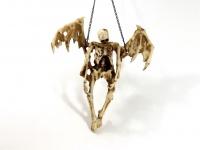 Gothic Deko Figur mit Kette Wanddeko Skelett Skull Reaper Totenkopf Wandbild