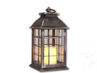 Laterne mit LED Kerze flackernd Deko Kerzen Ständer Halter Leuchter Grablicht
