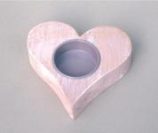 Teelichthalter Kerzenhalter Holz Herz Deko Kerzen Leuchter Ständer Kerzenständer