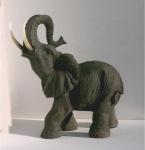 Elefant Skulptur Elefanten Deko Garten Tier Figur Afrika Statue Dickhäuter