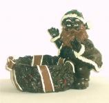Deko Weihnachtsmann Nikolaus Figur Weihnachtsdeko Dekofigur Schoko Schleife Korb