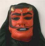 Monstermaske Teufel Deko Grusel Maske mit Kapuze Halloween Monster Teufelmaske
