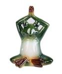Frosch Kröte Lurch Gecko Yoga Deko Tier Figur Skulptur Froschkönig Laubfrosch