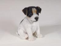 Terrier Jack Russel Hund Welpe Deko Garten Tier Figur Skulptur Statue Wildhund
