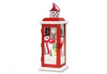 Laterne Metall Windlicht Teelichthalter Kerzenständer Deko Leuchter Schneemann