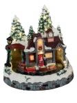 Winterdorf Weihnachtsdorf LED beleuchtet mit Spieluhr Zug Weihnachts Deko Haus
