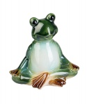 Frosch Kröte Yoga Lurch Gecko Deko Tier Figur Skulptur Froschkönig Laubfrosch