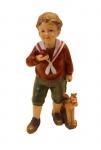 Winterkind Knabe Junge Schaukelpferd Apfel Weihnachts Nostalgie Deko Kind Figur