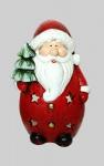 Weihnachtsmann Windlicht Deko Figur Weihnachts Nikolaus Teelichthalter Tanne