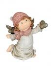Engel Deko Schutzengel mit Herz Engelfigur Skulptur Weihnachts Figur Elfe Fee