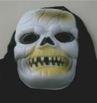 Monstermaske Tod Geist Deko Grusel Maske mit Kapuze Halloween Monster Skull