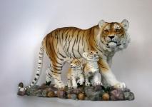 Tiger Katze Tigerfigur Baby Kind Skulptur Deko Afrika Tier Figur Statue Löwe