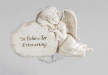 Grabschmuck Grabstein Engel am Stein Gedenkstein Spruch Grabdeko Grab Deko Figur