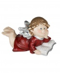 Engel mit Buch Dekoengel Schutzengel Engelfigur Skulptur Weihnachts Deko Figur