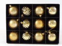 Christbaumkugeln 12 tlg Weihnachtskugeln Baumschmuck Deko Kugeln Weihnachtsdeko