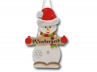 Weihnachts Deko Schneemann Figur Winter Tür Fenster Wand Hänger Holz Wandbild