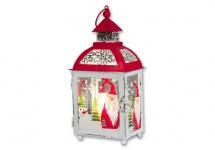 Laterne Metall Windlicht Teelichthalter Kerzenständer Leuchter Weihnachtsmann