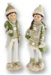 Winterkinder Set Winterkind Weihnachts Deko Kinder Paar Figur Skulptur Artikel