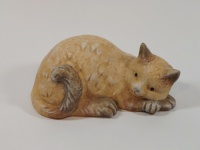 Katzen Katze Keramik Katzenfigur Tierfigur Deko Tier Figur Skulptur Statue