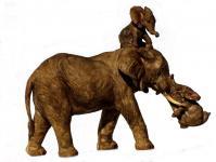 Elefant Baby Tierfigur Skulptur Elefanten Deko Garten Tier Figur Afrika Statue