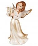 Engel Dekoengel Schutzengel Engelfigur Skulptur Weihnachts Deko Figur Lyra Leier