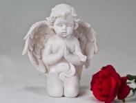 Engel Schutzengel Dekoengel Engelfigur Dekofigur Skulptur Grabschmuck Figur Deko