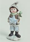 Winterkinder Winterkind Stern Weihnachtsdeko Deko Kinder Figur Junge Knabe