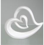 Deko Objekt Herz Artikel abstrakte Skulptur Figur in Herzform Dekofigur Steingut