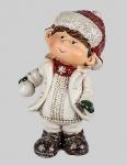 Winterkinder Winterkind Junge Deko Kinder Figur Weihnachtsdeko Skulptur Statue
