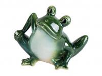 Frosch Kröte Unke Lurch Deko Tier Figur Skulptur Froschkönig Gecko Eidechse