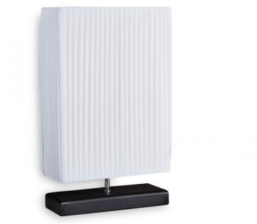 Nacht-Tischlampe Lampe in weiß aus Latex - Leuchte Licht 30x50x10