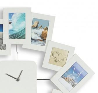 Wanduhr 40, 5x42, 5cm Weiß Bilderrahmen Foto-Uhr 12 Fotos Fotogalerie - Vorschau 5