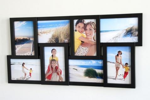 Bilderrahmen schwarz 8 Fotos Collage Fotogalerie Fotocollage Galerie