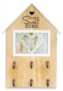Bilderrahmen 25x37cm Haus Fotorahmen Bild 10x15cm Home Sweet Home 6 Haken Deko