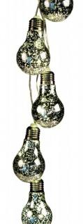 LED Lichterkette 5 Glühbirnen Silber Batterie Beleuchtung Deko Lampe Licht