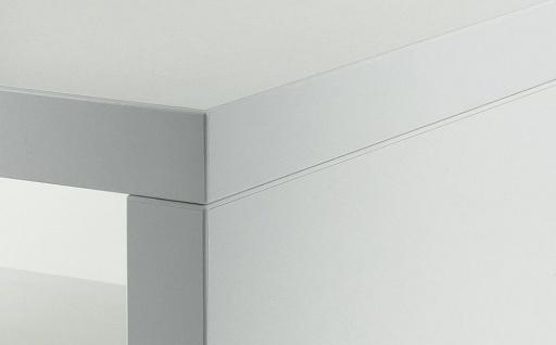 Couchtisch Sigi Weiß Deutsche Herstellung 44x44x44cm fest verleimt - Vorschau 3