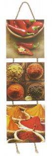 Wandbilder Küchen-Deko H53cm Chili Gewürze Kräuter Wanddekoration