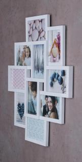 Bilderrahmen weiß 10 Fotos Fotogalerie Fotocollage 3D Optik Collage - Vorschau 4